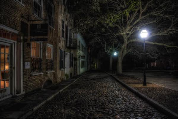 One of the haunted locations, in Charleston, which we visit on this Ghost Tour