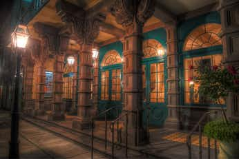 A haunted theatre on some of our Ghost Tours in Charleston