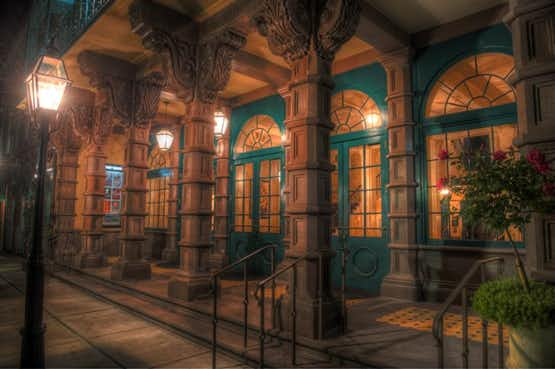 A photo of the haunted Dock Street Theatre, in Charleston, South Carolina.