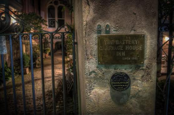 The haunted Battery Carriage Inn, in Charleston South Carolina