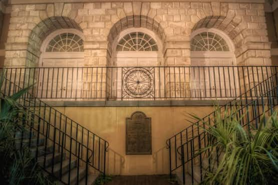 The rear of the haunted Exchange building, in Charleston, where the Provost MIlitary Prison is.