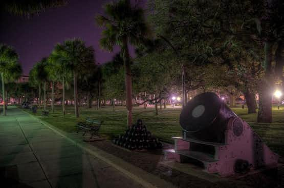 White Point Garden, the site of many ghost sightings in Charleston, South Carolina