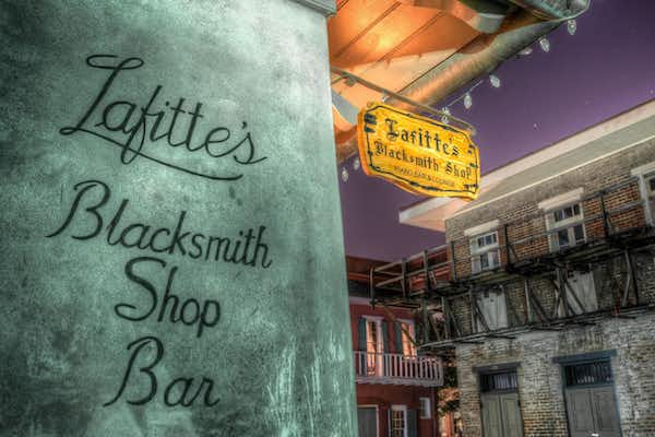 Lafitte's Blacksmith Shop, one of the stops on the Haunted Pub Crawl